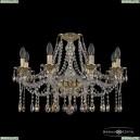 16113/8/240 G K801 Хрустальная подвесная люстра с металлической чашкой Bohemia Ivele Crystal (Богемия), 1613
