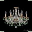16110/6/165 FP V5001 R801 Хрустальная подвесная люстра с металлической чашкой Bohemia Ivele Crystal