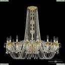 16102/12/360/h-96 G Хрустальная подвесная люстра с металлической чашкой Bohemia Ivele Crystal (Богемия), 1602