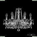 16102/6/165 NB Хрустальная подвесная люстра с металлической чашкой Bohemia Ivele Crystal (Богемия), 1602
