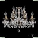16102/8+4/195 GB Хрустальная подвесная люстра с металлической чашкой Bohemia Ivele Crystal (Богемия), 1602