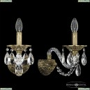 16102B/1/165/XL FP Хрустальное бра с металлической чашкой Bohemia Ivele Crystal (Богемия), 1610