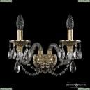 16102B/2/165 G Хрустальное бра с металлической чашкой Bohemia Ivele Crystal (Богемия), 1610