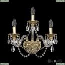 16102B/2+1/165 G Хрустальное бра с металлической чашкой Bohemia Ivele Crystal (Богемия), 1610