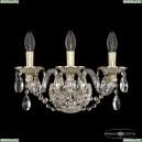 16102B/3/141 GW Хрустальное бра с металлической чашкой Bohemia Ivele Crystal (Богемия), 1610