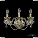 16102B/3/165 G Хрустальное бра с металлической чашкой Bohemia Ivele Crystal