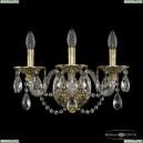16102B/3/165/XL G Хрустальное бра с металлической чашкой Bohemia Ivele Crystal