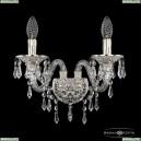 16103B/2/165 GW Хрустальное бра с металлической чашкой Bohemia Ivele Crystal (Богемия), 1610