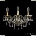 16103B/3/165/XL GB Хрустальное бра с металлической чашкой Bohemia Ivele Crystal