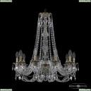 16106/10/240/h-75 FP Хрустальная подвесная люстра с металлической чашкой Bohemia Ivele Crystal (Богемия), 1606