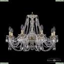 16106/8/240 GW Хрустальная подвесная люстра с металлической чашкой Bohemia Ivele Crystal (Богемия), 1606