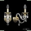 16106B/1/165 G Хрустальное бра с металлической чашкой Bohemia Ivele Crystal (Богемия), 1610