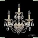 16106B/2+1/165/XL GW Хрустальное бра с металлической чашкой Bohemia Ivele Crystal (Богемия), 1610