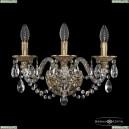 16106B/3/165 FP Хрустальное бра с металлической чашкой Bohemia Ivele Crystal