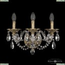 16106B/3/165/XL FP Хрустальное бра с металлической чашкой Bohemia Ivele Crystal (Богемия), 1610