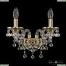 16109B/2/141 G Хрустальное бра с металлической чашкой Bohemia Ivele Crystal