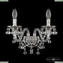 16109B/2/165 Ni Хрустальное бра с металлической чашкой Bohemia Ivele Crystal