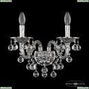 16109B/2/165/XL Ni Хрустальное бра с металлической чашкой Bohemia Ivele Crystal (Богемия), 1610