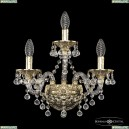 16109B/2+1/141 G Хрустальное бра с металлической чашкой Bohemia Ivele Crystal