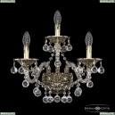 16109B/2+1/165/XL GB Хрустальное бра с металлической чашкой Bohemia Ivele Crystal (Богемия), 1610