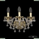 16109B/3/141 G Хрустальное бра с металлической чашкой Bohemia Ivele Crystal