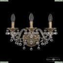 16109B/3/165 FP Хрустальное бра с металлической чашкой Bohemia Ivele Crystal