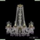 16110/10/240/h-75 G V7010 Хрустальная подвесная люстра с металлической чашкой Bohemia Ivele Crystal (Богемия), 1610