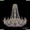 16110/16/360/h-95 G V7010 Хрустальная подвесная люстра с металлической чашкой Bohemia Ivele Crystal (Богемия), 1610
