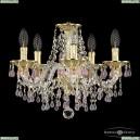 16110/5/141 G V7010 Хрустальная подвесная люстра с металлической чашкой Bohemia Ivele Crystal (Богемия), 1610