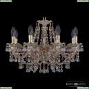16110/8/195 GW V0300 M721 Хрустальная подвесная люстра с металлической чашкой Bohemia Ivele Crystal (Богемия), 1610