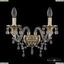 16110B/2/165 G V0300 Хрустальное бра с металлической чашкой Bohemia Ivele Crystal (Богемия), 1611