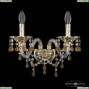 16110B/2/165/XL G V1003 Хрустальное бра с металлической чашкой Bohemia Ivele Crystal (Богемия), 1611