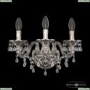 16110B/3/141 Ni V0300 Хрустальное бра с металлической чашкой Bohemia Ivele Crystal (Богемия), 1611