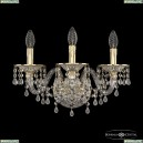 16110B/3/165/XL GW V0300 Хрустальное бра с металлической чашкой Bohemia Ivele Crystal (Богемия), 1611