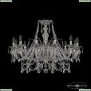 16111/12/300 Ni Хрустальная подвесная люстра с металлической чашкой Bohemia Ivele Crystal (Богемия), 1611