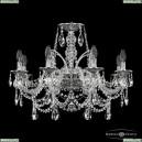 16111/8/240 NB Хрустальная подвесная люстра с металлической чашкой Bohemia Ivele Crystal (Богемия), 1611