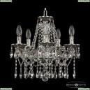 16113/5/141 NB Хрустальная подвесная люстра с металлической чашкой Bohemia Ivele Crystal (Богемия), 1613