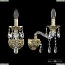 16113B/1/165 G Хрустальное бра с металлической чашкой Bohemia Ivele Crystal (Богемия), 1611
