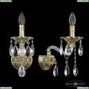 16113B/1/165/XL G Хрустальное бра с металлической чашкой Bohemia Ivele Crystal (Богемия), 1611