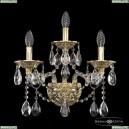 16113B/2+1/165/XL G Хрустальное бра с металлической чашкой Bohemia Ivele Crystal (Богемия), 1611