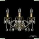 16113B/3/165 GB Хрустальное бра с металлической чашкой Bohemia Ivele Crystal (Богемия), 1611