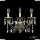 16113B/3/165/XL GB Хрустальное бра с металлической чашкой Bohemia Ivele Crystal (Богемия), 1611