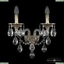 16115B/2/165/XL GB Хрустальное бра с металлической чашкой Bohemia Ivele Crystal (Богемия), 1611