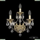 16115B/2+1/141 G Хрустальное бра с металлической чашкой Bohemia Ivele Crystal (Богемия), 1611