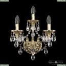 16115B/2+1/165 G Хрустальное бра с металлической чашкой Bohemia Ivele Crystal (Богемия), 1611