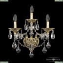 16115B/2+1/165/XL G Хрустальное бра с металлической чашкой Bohemia Ivele Crystal (Богемия), 1611
