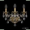 16115B/3/141 FP Хрустальное бра с металлической чашкой Bohemia Ivele Crystal (Богемия), 1611