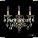 16115B/3/165/XL GB Хрустальное бра с металлической чашкой Bohemia Ivele Crystal (Богемия), 1611