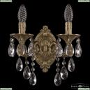 7101B11/2/125 B FP Бра под бронзу из латуни Bohemia Ivele Crystal (Богемия), 7101