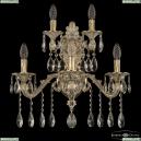 7102B16/3+2/210 A GW Бра под бронзу из латуни Bohemia Ivele Crystal (Богемия), 7102